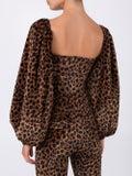 Attico - Leopard Print Balloon Sleeve Blouse - Women