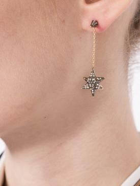 18kt yellow gold Merkaba diamond drop earrings GOLD