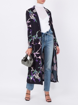 printed duster coat
