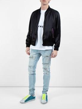 Amiri - Blue Leopard Print Sneakers - Men