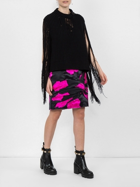 knot detail A-line skirt