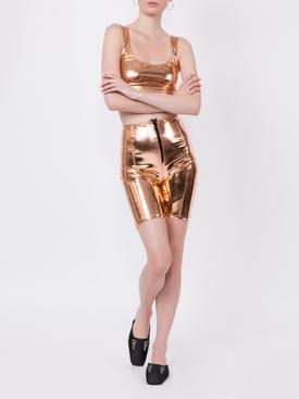 Metallic bike shorts Gold