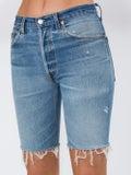 Re/done - Knee Length Denim Shorts - Women