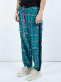 Amiri - Silk Plaid Track Pants Blue - Men