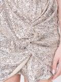 Magda Butrym - Deva Silver Sequin Dress - Women