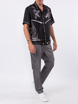 Givenchy - Black Silk Dragon Print Shirt - Men