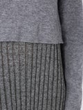 J.w. Anderson - Grey Two-layer Pleated Dress - Clothing