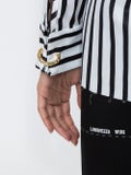 Marques'almeida - Buckled Neck Blouse Black & White - Women