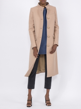 classic button up coat BEIGE