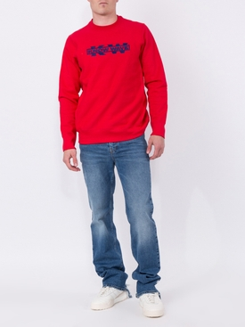Red Service Sector Embroidered Sweatshirt