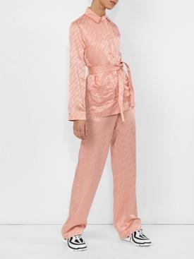 belted logo Pajama shirt