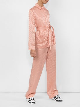 Off-white - Belted Logo Pajama Shirt - Women
