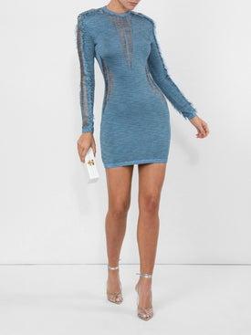 Balmain - Distressed Detail Mini Dress - Women
