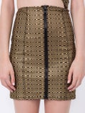 Lisa Marie Fernandez - Metallic Zip Mini Skirt - Women
