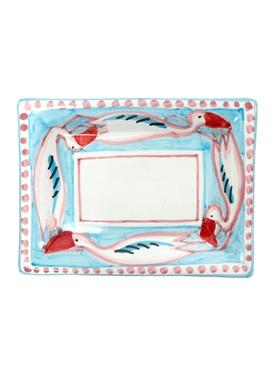The Webster x Ceramica Artistica Solimene Flamingo Square plate MULTICOLOR