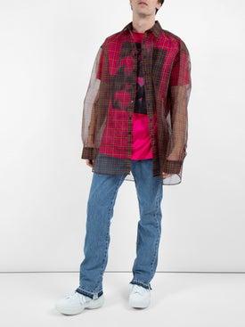 Raf Simons - Long Sleeve Transparent Shirt With T-shirt Red - Men