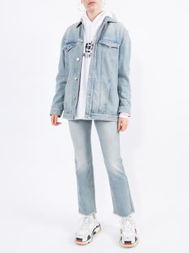 Givenchy - Flared Distressed Light Blue Jeans - Women