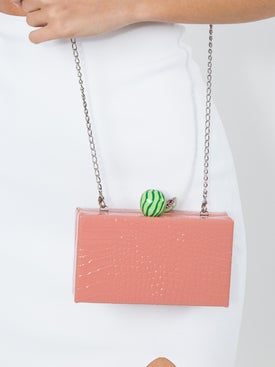 Edie Parker - Embossed Fruit Box Clutch - Clutches