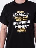Vetements - Birthday T-shirt Black - T-shirts