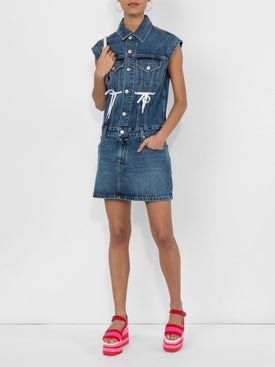 Proenza Schouler - Tie Detail Denim Dress - Women