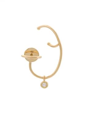 left white diamond lily earring