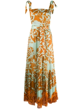 Johanna Ortiz - Green And Yellow Floral Maxi Dress - Women