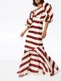 Johanna Ortiz - Striped Silk Maxi Dress And Jacket - Women