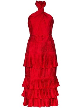 Johanna Ortiz - Red Eccentric Vibes Midi Dress - Women