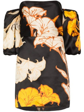 Johanna Ortiz - Silk Floral Mini Dress - Women