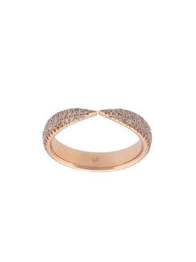 18kt gold kissing claw diamond ring