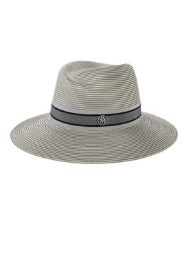 Maison Michel - Grey Straw Virginie Hat - Women