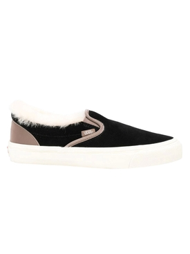 Vans - Shearling Trim Black Classic Slip-on Sneakers - Men