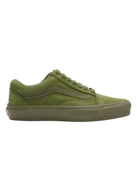 Vans - Green Nubuck Leather Old Skool Lx Sneakers - Low Tops