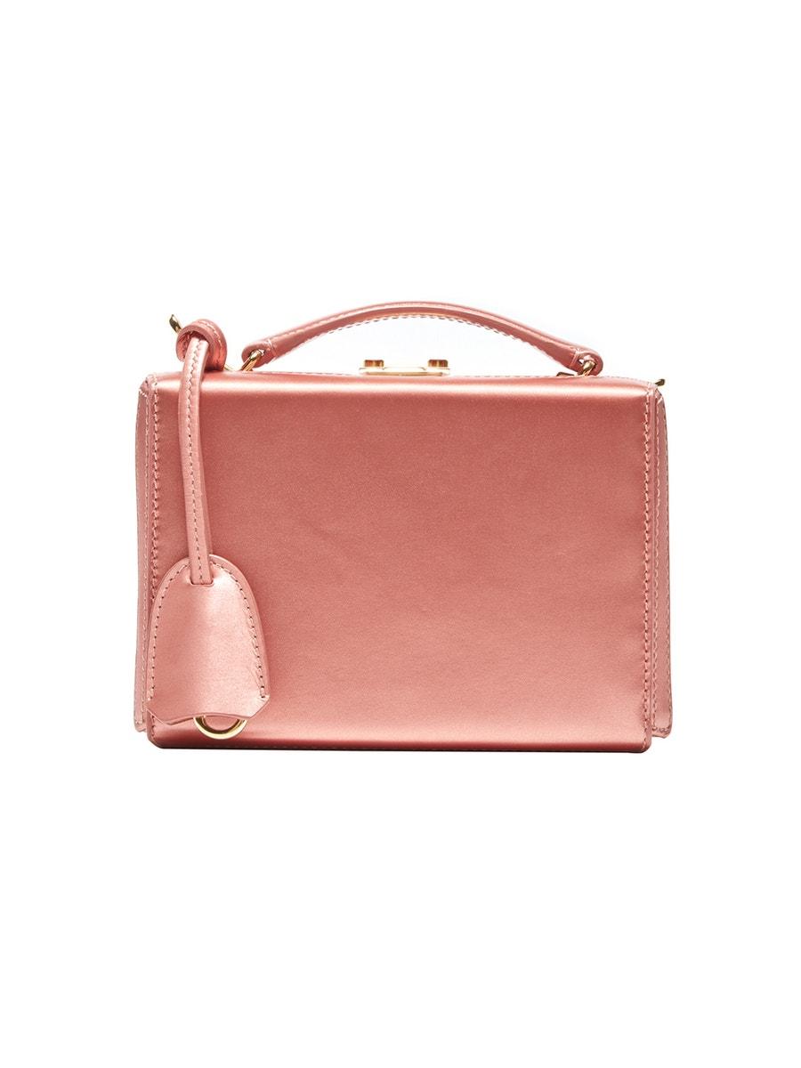 Mark Cross Bags GRACE MINI BOX BAG ROSA ANTICO SILK