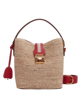 Mark Cross - Murphy Raffia Red - Women