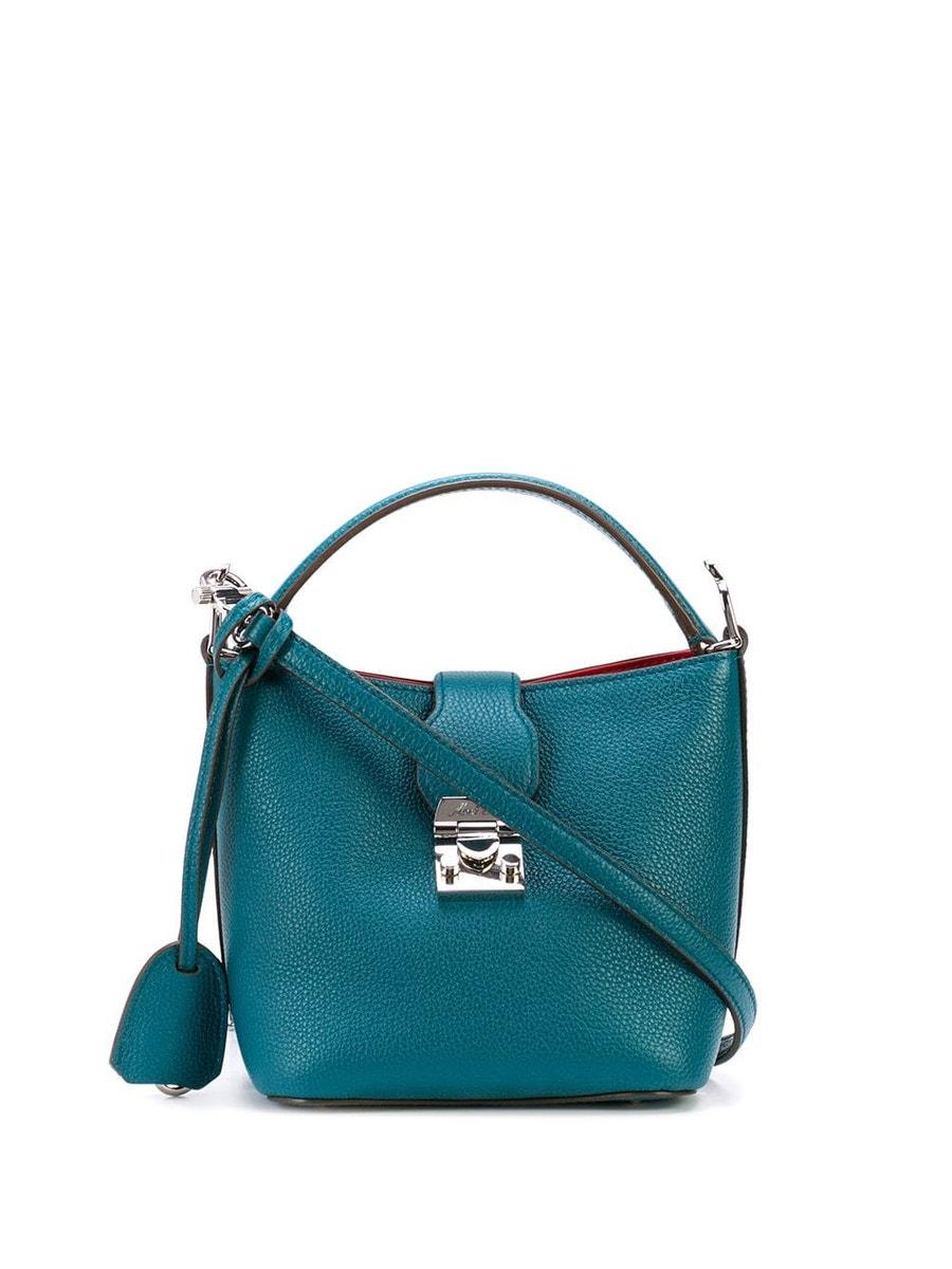Mark Cross Bags sea green Murphy mini bucket bag