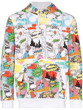 Comme Des Garcons Shirt - Comic Book Print Hoodie - Men