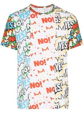 Comme Des Garcons Shirt - Yes No Print T-shirt - Men