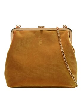 Mark Cross - Susana Frame Bag Gold Velvet - Women