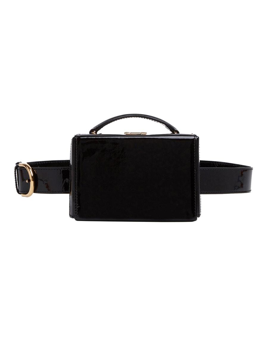 Mark Cross Grace Belt Bag Brush Off Leather BLACK