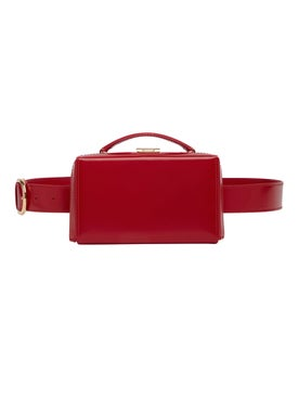 Mark Cross - Grace Belt Bag Brush Off Leather Red - Women