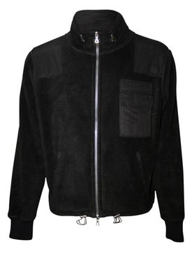 Amiri - Polar Fleece Commando Patch Jacket Black - Men