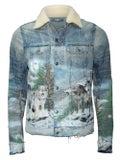 Amiri - Shearling Airbrush Trucker Jacket - Men