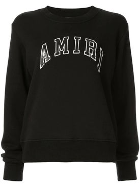 Amiri - College Amiri Crewneck Sweater Black - Women