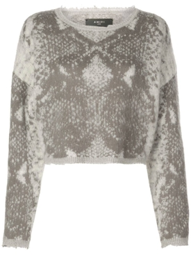 snakeskin knitted sweater