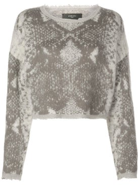 Amiri - Snakeskin Knitted Sweater - Tops