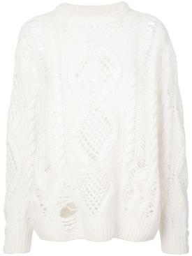 Boyfriend Multipoint Crewneck Sweater