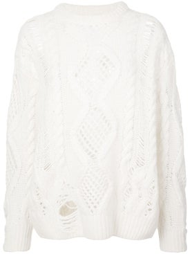 Amiri - Boyfriend Multipoint Crewneck Sweater - Women