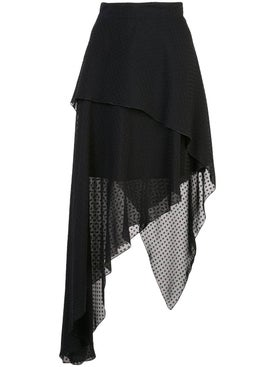 Amiri - Asymmetric Plumetis Skirt - Women
