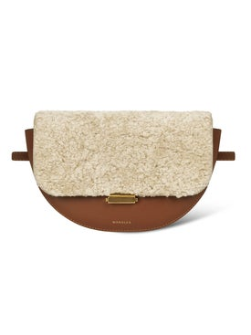 Wandler - Leather Anna Belt Bag Beige Wool - Women